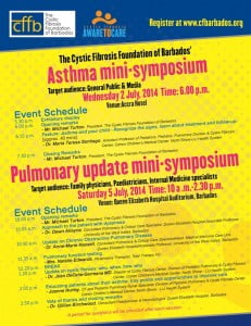 Come, see and hear our local and international doctors share about respiratory illnesses - Cystic Fibrosis and Asthma. (CLICK FOR BIGGER)