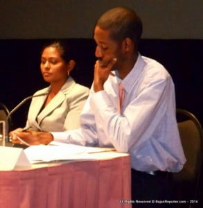 Mrs Bhagoo-Ramrattan seated next to Fmr Pres. of ICAB, David Simpson - Curr. Mgng. Dir. of Prestige Accounting