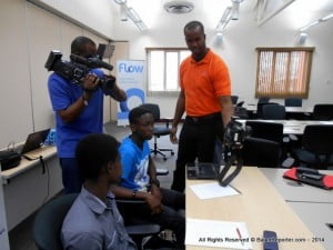 Youth participants learning about Digital Photography