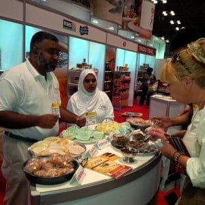 Sampling at ASMA's booth