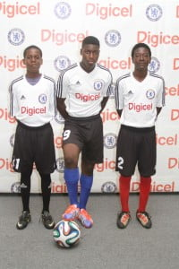The top three boys selected to represent Antigua and Barbuda at the Digicel Academy, from L-R: 16 year-old Kwame Dirby, 16 year-old Denny Henry and 15 year-old Ngozie Harvey