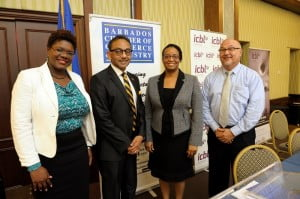 In attendance at the event were Ms. Tracey Shuffler - President, Barbados Chamber of Commerce & Industry; Mr. Edward Clarke - Vice President, Barbados Chamber of Commerce & Industry; and Mrs. Lisa Gale - Executive Director, Barbados Chamber of Commerce & Industry. The event was sponsored by ICBL, a local Barbados insurance company.