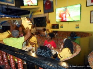 As Portugal evened the score, no one could hear themselves think at Bagatelle as everyone hoping this outcome will push Ghana through began using their whistles from Global Directories! (CLICK FOR BIGGER)