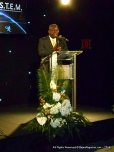 Minister of Education, Science & Technology - Ronald Jones gave the feature address.
