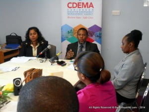 The CDEMA annual Hurricane Season press conference - including the announcement of collaboration with CaribWatch.