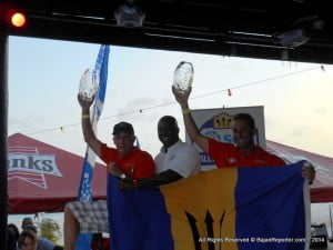 After the results were made final on Monday, 'The Sheriff' and co-driver Luis Venezia received their trophies from Ezra Prescod, general manager of Sol Barbados, at a packed Prize-giving at The Boatyard beach bar in the island's capital, Bridgetown.