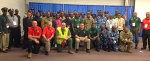 The St. Kitts and Nevis team and the West Virginia Department of Corrections officer on-site at the West Virginia State penitentiary