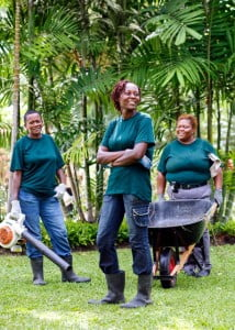 Nature Care team: (from left) Margaret Thomas, Sharon Smith-Callender and Denise Moore.