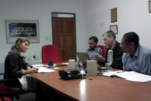 (l) Ms. Pearce in discussion with senior executives of CARDI at its Headquarters in St Augustine, Trinidad