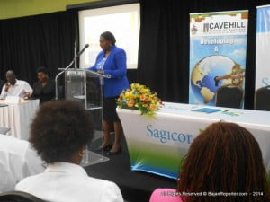 Sagicor Financial Corporation and The Cave Hill School of Business held a commemorative ceremony to celebrate a recent accord between both organizations. President and CEO of Sagicor Life Incorporated, Dr Patricia Downes-Grant told participants how both her organisation and CHSB address leadership in terms of human capital management and by brokering this new agreement, it enables both entities to draw on each other's expertise to create new synergies.