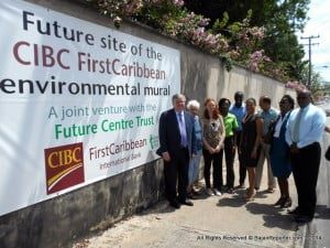 Spieler raised the alarm as the Trust officially announced a partnership with CIBC First Caribbean International Bank, for the creation of a mural along the wall leading from the entrance to the bank's Mansoor HQ in Warrens to the exit from Boabab Towers.