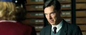 In THE IMITATION GAME, Benedict Cumberbatch stars as Alan Turing, the genius British mathematician, logician, cryptologist and computer scientist who led the charge to crack the German Enigma Code that helped the Allies win WWII. (VIDEO SCREENSHOT)