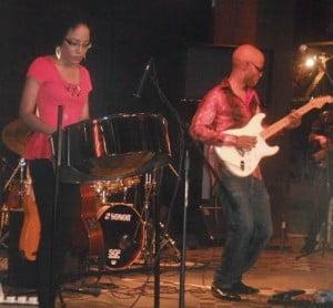 Lead singer, songwriter, guitarist, Ian Joseph jams with special guest artiste, Markita Joseph (Tenor Pan)
