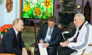Russia President Vladimir Putin and Cuba's Fidel Castro (VIA - CARIBBEAN JOURNAL)