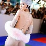 Rihanna in sheer dress 5
