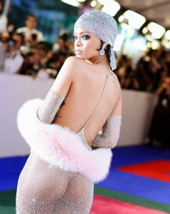 Just living her life: Rihanna in a sheer dress at the 2014 CFDA Fashion Awards - Copyright 2014 by [REX]