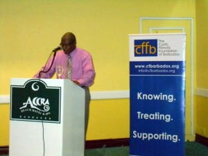 The CFFB President told members how from 10:00 am on Saturday 5th there'll also be a Mini-Seminar for Medical Professionals at the QEH on Cystic Fibrosis, as well as a fundraising Gala Dinner on November 1st.