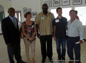 One of the Barbadian students, Sean Gloumeau - 2nd from Right, with parents, Dr Warde and a representative from the CBB. SPISE 2014 continues developing business ventures built on science and technology in the Caribbean. This as the CSF devises Educational materials & pathways that stimulate and promote science, technology and innovation in the region's youth.