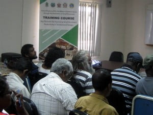 Segment of the audience at a training session