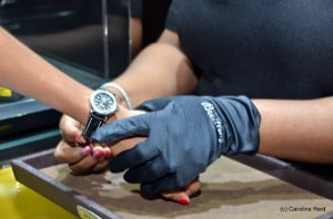 Breitling specialists moved among the guests with Ipads so that a close-up look was possible at any watch that caught their eye. From there guests were invited into the Breitling Boutique where special Boutique Editions and Boutique Preview models were on display.