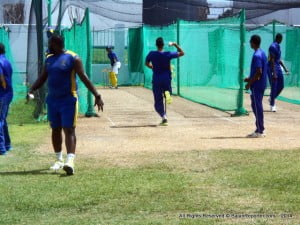 Despite the loss of Smith, the Tridents got off to an excellent start. The man responsible was Jason Holder who was able to score with ease, especially off the back foot on the off side. With him at the crease the Bajans raced along at 10 an over without taking too many risks. He fell for a well-made 48, LBW to West Indies under 19 star, Ray Jordan. That was his first wicket in professional cricket. He had his second the very next ball as Neil McKenzie was caught behind for a golden duck. Jordan has pace and passion, he is a player to watch out for.