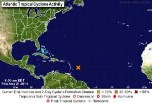 SPECIAL TROPICAL WEATHER OUTLOOK NWS NATIONAL HURRICANE CENTER MIAMI FL 400 PM EDT THU AUG 21 2014