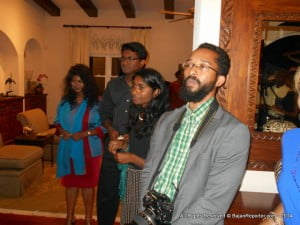 On & Off Duty Photographer Khalil Goodman (bearded) with wife & children of incoming DCM, Aruna Amirthanayagam