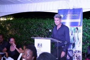 Matthew Parker addressing the Chevening Alumni at BenMar