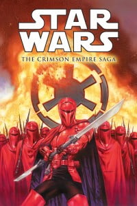 The company acquired the license for Star Wars comics in the early 1990s, a few years after the end of the Marvel run and in the build-up to the prequels, relaunching the Star Wars line with such titles as Classic Star Wars (reprinting the original Star Wars newspaper strips), Dark Empire, Tales of the Jedi, Dark Empire II, etc. Stradley and Richardson would team-up to write the Crimson Empire miniseries, focusing on the Emperor's Royal Guard.