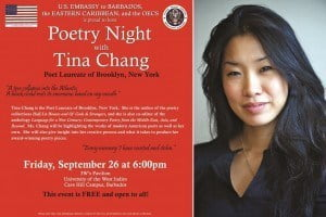 This program will showcase the diversity and modernity of American literature, as well as allow Ms. Chang to share her opinions on poetry's relevance and insight on her creative process. (CLICK FOR BIGGER)