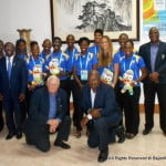 The names of the eight representatives were announced at a reception hosted by People's Republic of China Ambassador Wang Ke at the Chinese Embassy on Thursday. Athletics will be represented by five athletes with the other three coming from Swimming.