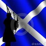 bag piper scottish flag dreamstime
