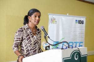 Dr Esther Byer Suckoo, Minister of Labour, Social Security and Human Resource Development