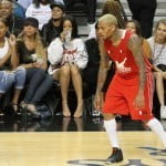 rihanna chris brown basketball 082114 SplashNewsOnline