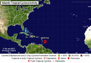 TROPICAL WEATHER OUTLOOK MIAMI HURRICANE CENTER, FL. 8:00 AM EDT - FRI 1st AUG 2014 {CLICK FOR BIGGER}