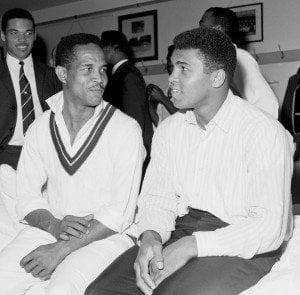 (Ali was in Barbados? Here w/Sir Garry Sobers) Starring: Muhammad Ali Jnr, Hana Ali, Maryum Ali
