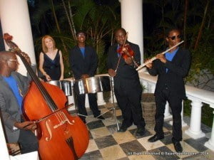 British High Commissioner Victoria Dean held an autumn reception on Saturday 13 September to celebrate the 'Last Night of the Proms'. The Proms is an eight week summer season of orchestral classical music concerts and events held annually, largely in the Royal Albert Hall in London. The Commissioner seen here with a popular Barbadian Jazz Ensemble