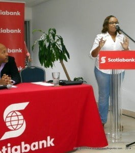 """Thus the series of workshops known as UP-Start Caribbean, the most recent edition had an urgent word of warning that anyone who wishes to compete in """"Bank On Me,"""" had better hurry since the deadline is this Friday! Scotia's Manager of their Holetown branch Ms Caseline Gumbs also had great tips for entrepreneurs who are expanding their companies with a medium to large staff and payroll issues;-"""