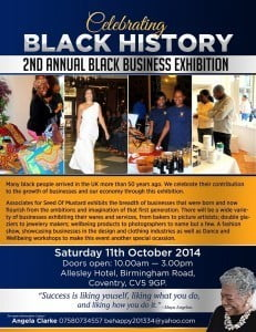 October is Black History Month in UK, there's  two events celebrating it... {CLICK FOR BIGGER}