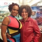 Soca Queen and star of Two Smart Alison Hinds poses with Executive Director Frances Anne Solomon at the films screening