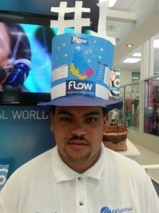 "Etienne ""Big Red"" Fraser, FLOW customer service representative was the big winner!"
