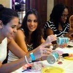 Brides enjoying the DIY session withThe bead Cafe