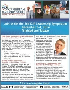 Join us for the 3rd CLP Leadership Symposium! Register Today! http://www.caribbeanleadership.org/en/forms/registration-form (CLICK FOR BIGGER)
