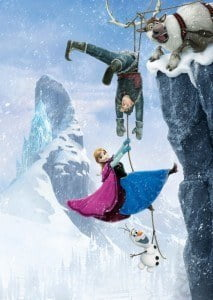 Teaming up with rugged mountain man Kristoff (voice of Jonathan Groff), his loyal reindeer Sven and a hilarious snowman named Olaf (voice of Josh Gad), Anna and her trusty companions battle the elements in a race to save the kingdom.