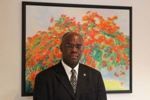 {IMAGE VIA - sxmelections.com} His Excellency Governor Eugene Holiday