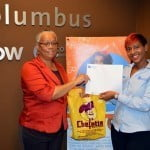 Grand Prize Winner Ms. Rosalie Austin Left and Julie Jones Marketing Executive