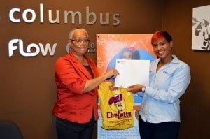 Grand Prize Winner Ms. Rosalie Austin (Left) and Julie Jones, Marketing Executive.