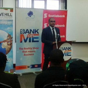 "25 Contestants will become 12 then 6 then 3 and finally 1? Which? Keep watching ""Bank On Me"" with new partner Global Directories. Collin Frances - the Barbados head of Yellow Pages took time to motivate contestants at the Cave Hill School Of Business."
