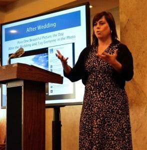 Julie Albaugh during her presentation to wedding vendors and event professionals on Sept 27, 2014 at The Wedding Convention