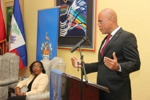 Deputy Principal, Professor Rhoda Reddock (seated) had the honour of hosting His Excellency, Michel Joseph Martelly, President of the Republic of Haiti, and his delegation on October 8 as he paid a courtesy call to The UWI St. Augustine Campus.